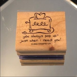 ✨3/$15 Stampin Up 2004 Toaster Quote Stamper